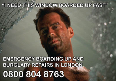 Emergency Window Boarding Up London